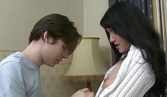 Playful Kacey Heart kissing teen underwear