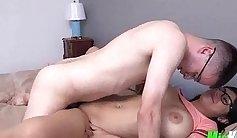Blowjob and sex in bathroom Mia Khalifa Tries A Big Black Dick