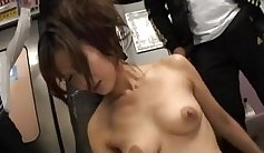 Best Japanese whore Maki sensually playing with her delicious shaved pussy