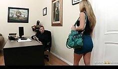 Busty Karlee Lane seduces her boss