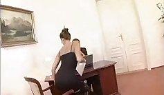 Secretary sucks bosses cock at work