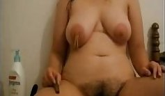 Underwear she hairy pussy and dripping nipples