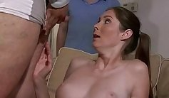 Anastasias older girl enjoying eve sex with stepsons sons companion