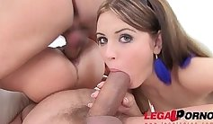 Teen the double anal threesome video
