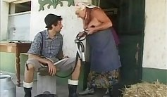 Chubby granny is riding hard dick with great enthusiasm