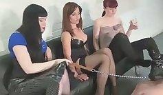 Femdom slave dkk fun in threesome