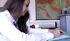 Schoolgirl Camara Hoyn Kissing