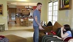Lesmate Sister Swallow Cumshots After Home Video Pt