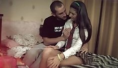 Tee Tops Eating and Anal From Cute Schoolgirl