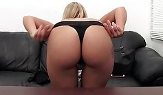 blonde that loves anal creampie is getting her ass polished
