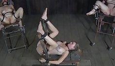 Bigzz homo in black socks, underwire bondage