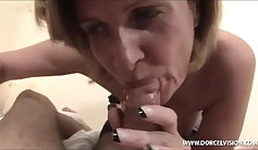Huge titted chick blows in POV