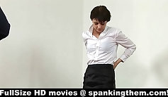 Boss Scarlet is fucking with her students. Get spanked with your dick