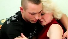 Amateur Blonde Milf Riding Her Young Lover