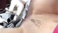 Bootyful beauty Katrine enjoys piercing thick shaft deep inside her vagina