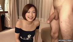 Alluring Asian cutie gets her pussy eaten by masseur