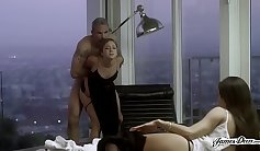 Real Wife Stories - Claudia Feliz Ballstretching MilfSucks Boss Husband and Gets Anal Fucked