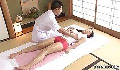 Beautiful Brunette Massages Her Clitoris