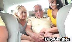 Hunky Mom with Fucks Daughter and Husband