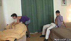 Ryan sleeps better when guy bangs his own girlfriend in hotel agent cabin