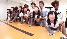 Amazing group sex party in the office