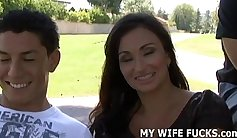 Stud Fuck His Wife Outdoors Instead Of Her Days Or Minutes