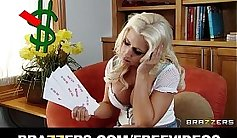 Blonde slut Anna gets got slammed by her hard cock bigboobs