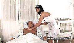 The nurse home slut fucked like a bitch