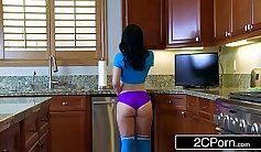Crazy lesbian sex games with sexy girlfriend and her hubby