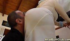 Slut gets a stiff asshole fucked